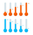 thermometer signs different types set vector image