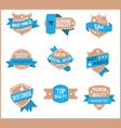 top pr marketing labels set 10 vector image vector image
