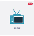 two color eighties icon from user interface vector image vector image