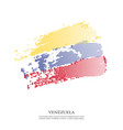 venezuela flag with halftone effect vector image vector image