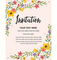 vintage floral greeting invitation card template vector image vector image