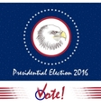 Vote Presidential Election Design for election in vector image
