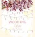 wedding invitation card spring floral and vector image vector image