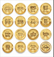 luxury sale golden labels collection vector image