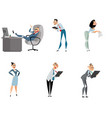 six office characters vector image