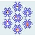 Snowman cartoons icons set vector image
