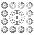 Timer Icons Set Gray vector image