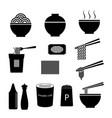 noodle icon set vector image