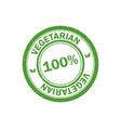 100 vegetarian stamp vegan logo icon vector image vector image