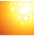 Abstract orange Sun light background vector image vector image