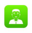 asian man icon digital green vector image
