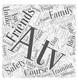 atv safety training course Word Cloud Concept vector image vector image