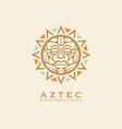 aztec tribal sun symbol with human face vector image vector image