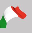 background with italy wavy flag vector image vector image
