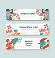 banner template with shopping design for leaflet vector image vector image