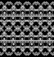 baroque black and white grunge seamless border vector image