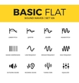 Basic set of Sound waves icons vector image vector image