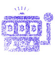 bitcoin gambling machine icon grunge watermark vector image vector image