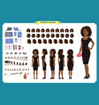 black girl in evening dress character vector image