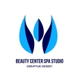Blue spa beauty center studio logo vector image vector image