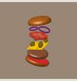 burger 3d vector image vector image