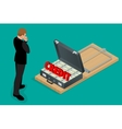 Businessman thinking about credit Style money vector image