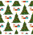 christmas seamless pattern merry christmas and vector image vector image