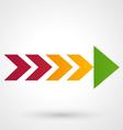 Color arrow icon vector image