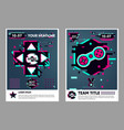 cyber sport poster video game flyer electronic vector image vector image