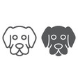 dog line and glyph icon animal and zoo vector image vector image