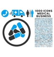 Drugs Icon with 1000 Medical Business Symbols vector image