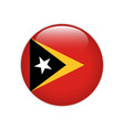east timor flag on button vector image