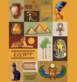 egypt symbols poster vector image vector image