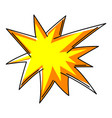 explosion or cartoon speech bubble vector image
