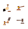 flat icon hammer set of hammer crime legal and vector image vector image