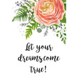 floral design card garden pink peach ranunculus vector image vector image