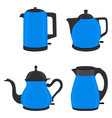 for set of colored electric teapots vector image vector image
