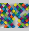 great colorful in shoadow fade with harmony and vector image vector image