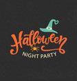 halloween party emblem template logo badge vector image vector image