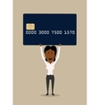 Happy businesswoman with credit card vector image