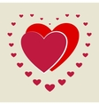 Heart small around two big heart vector image vector image