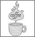 Hot Coffe Cup Zentangle vector image