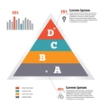 Infographics elements Pyramid chart Modern flat vector image vector image