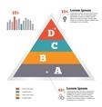 Infographics elements Pyramid chart Modern flat vector image