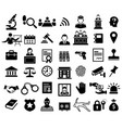 justice and legal sign icon set vector image vector image