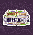 logo for confectionery vector image