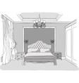 Luxury bedroom interior vector image