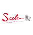 Megaphone Shouting Word Sale on White Background vector image vector image