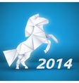 New year Horse background concept vector image vector image