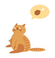 obesicat probably thinking about food with a vector image